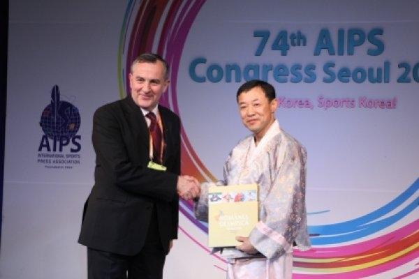 APS felicită Uniunea Presei Sportive din Coreea de Sud