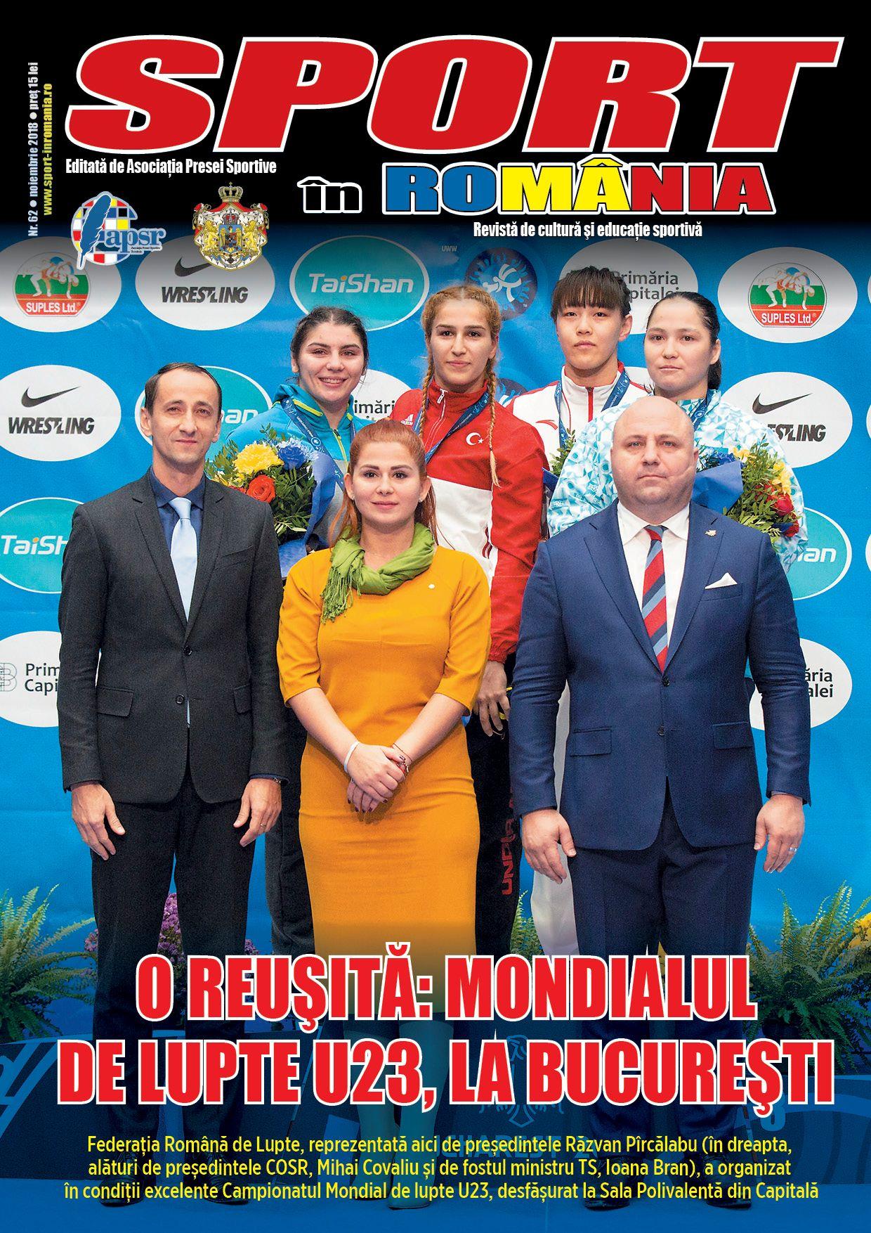 """A apărut numărul 62 al revistei """"Sport în România"""""""