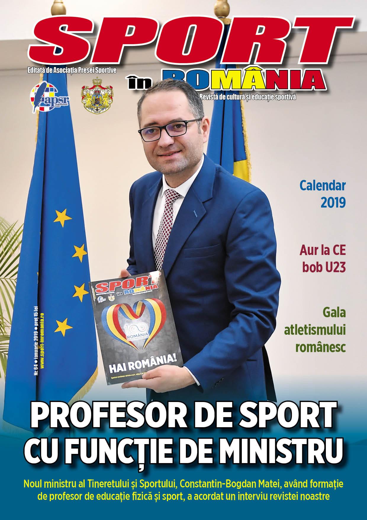 """A apărut nr. 64 al revistei """"Sport în România"""""""