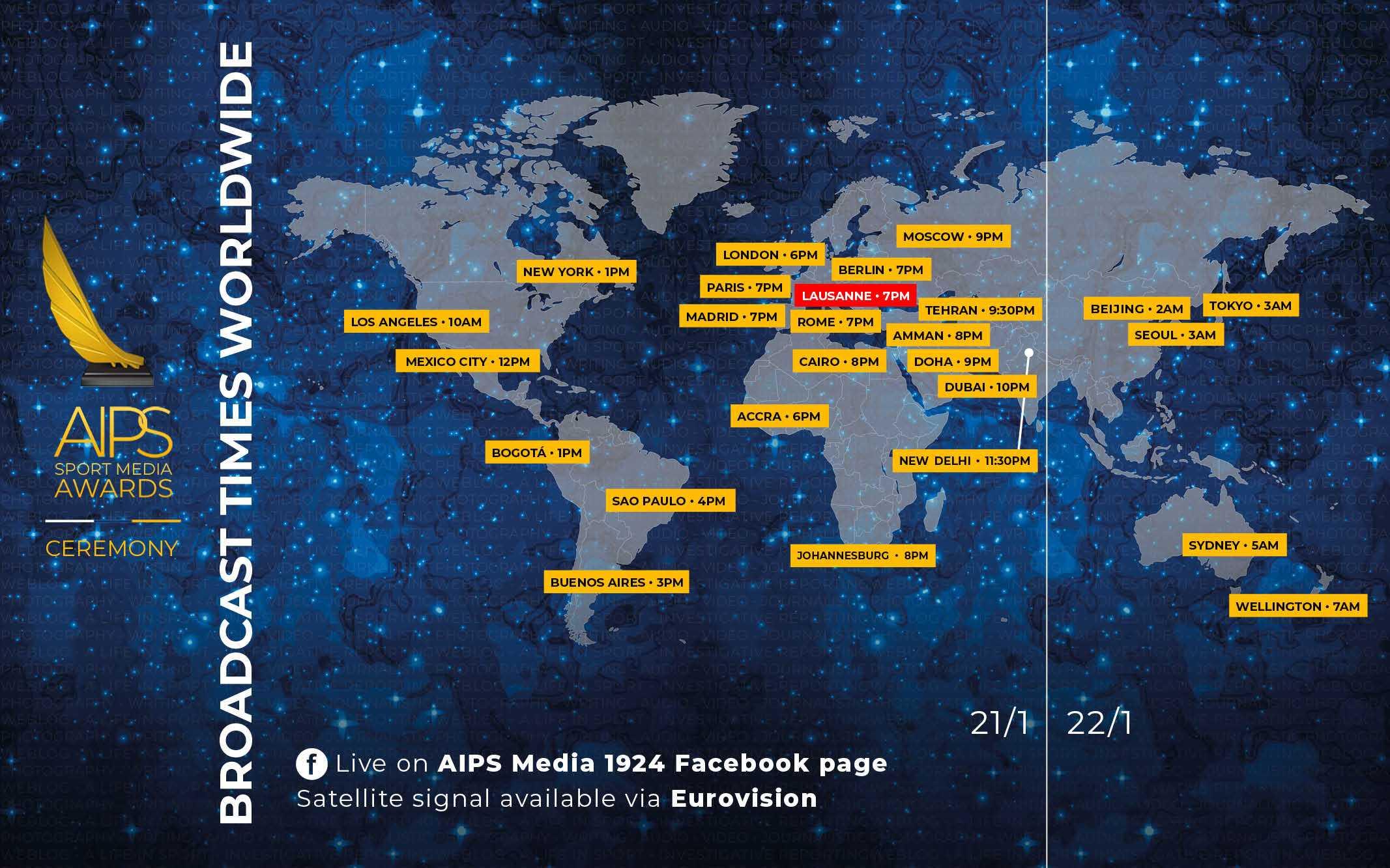 Festivitatea de premiere AIPS Sport Media Awards va fi LIVE pe Facebook!