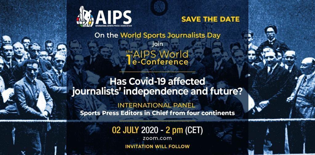 Pe 2 iulie, de Ziua Internațională a Jurnalistului Sportiv, AIPS organizează o conferință online