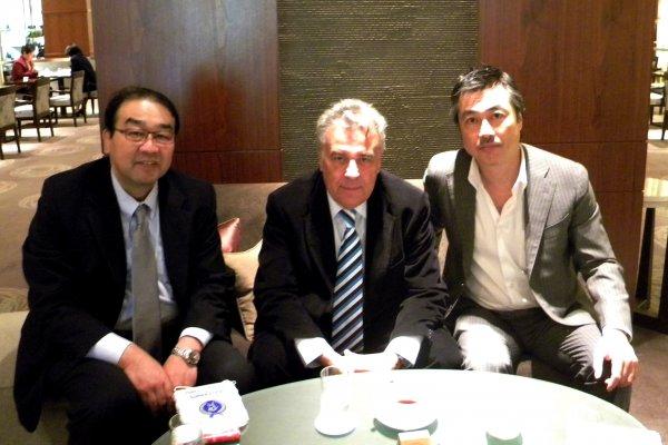 Emanuel Fantaneanu, membru al Comiteului Executiv al AIPS, s-a intalnit cu conducerea presei sportive japoneze