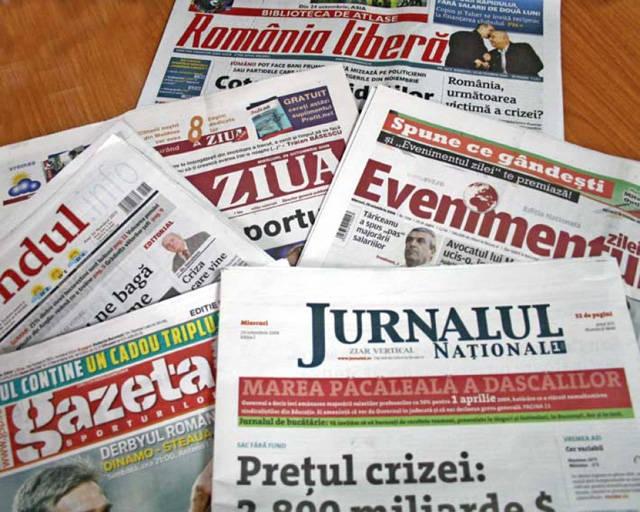 Guvernul va da bani pentru presa din România