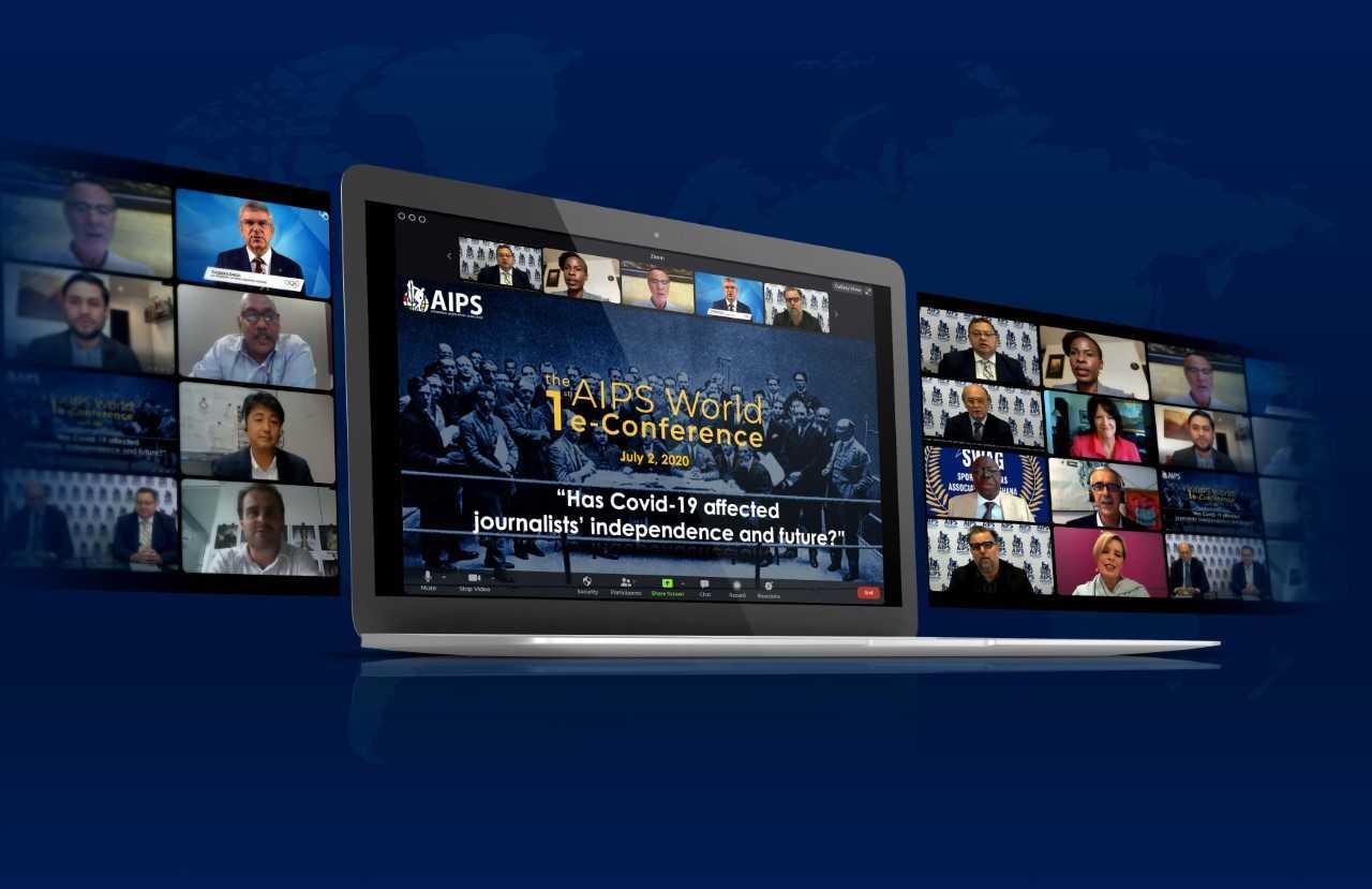 Peste 350 de gazetari din toată lumea s-au reunit online la Congresul AIPS